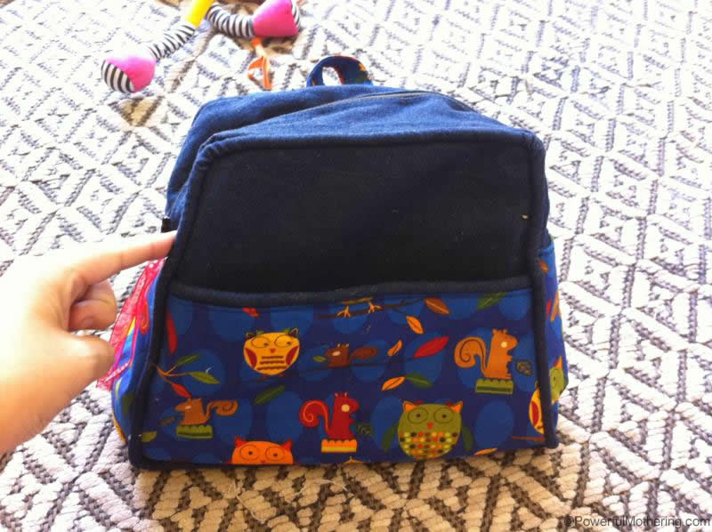 completed toddler backpack