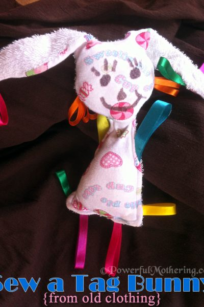 sew a tag bunny from old clothing