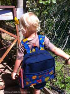 sew a toddler backpack