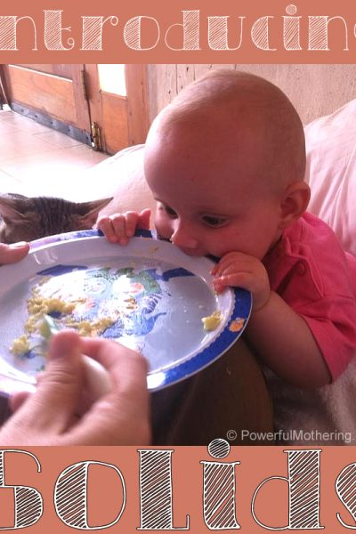 Introducing Solids For Baby Weaning