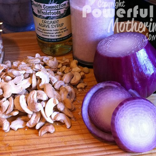 Raw Cashew Nut Cheese Recipe Ingredients