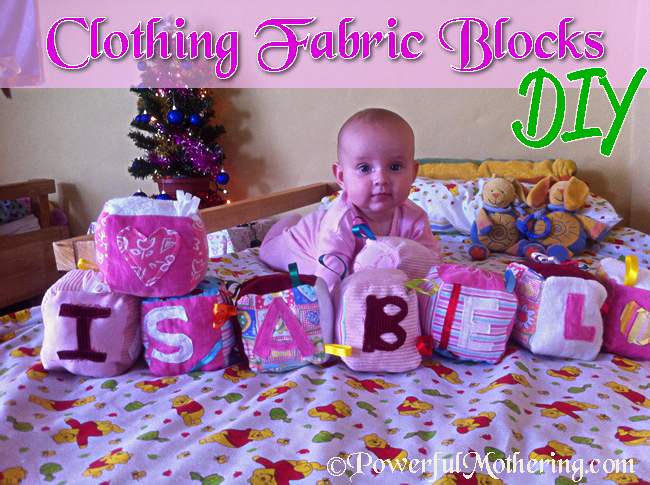 Sew Fabric Blocks From Old Clothing
