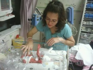 first born story preemie visiting