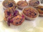 Moist Carrot, Blueberry & Raspberry Muffins