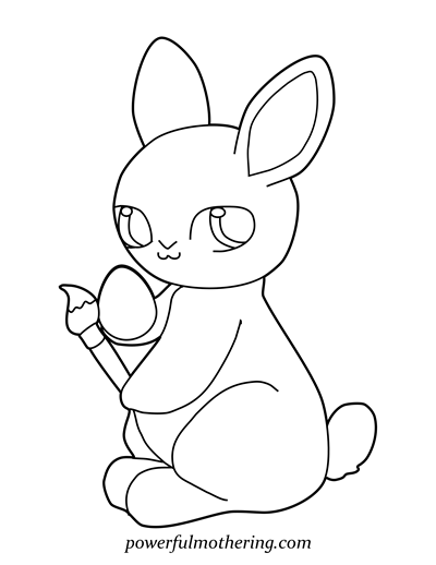 Cute Easter Bunny Coloring Pages