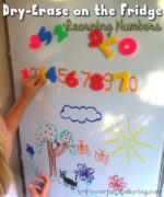 Dry-Erase Markers on the Fridge Learning Numbers with Toddlers