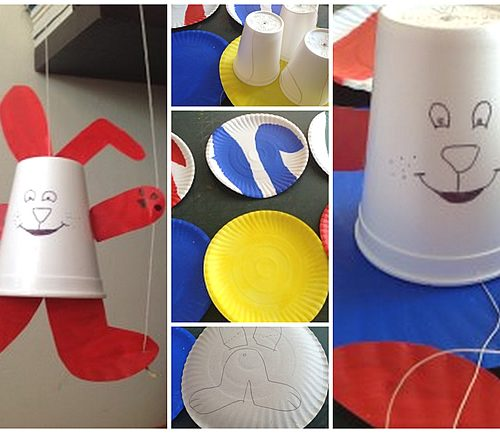 Easter Craft Paper Cup Bunny Puppet