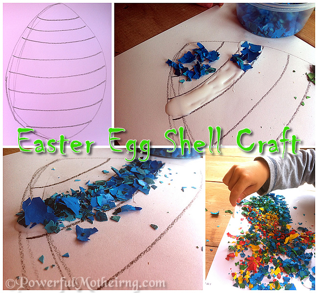 Easter egg shell craft