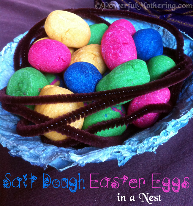 How to Make Salt Dough Easter Eggs and a Paper Mache Nest Bowl