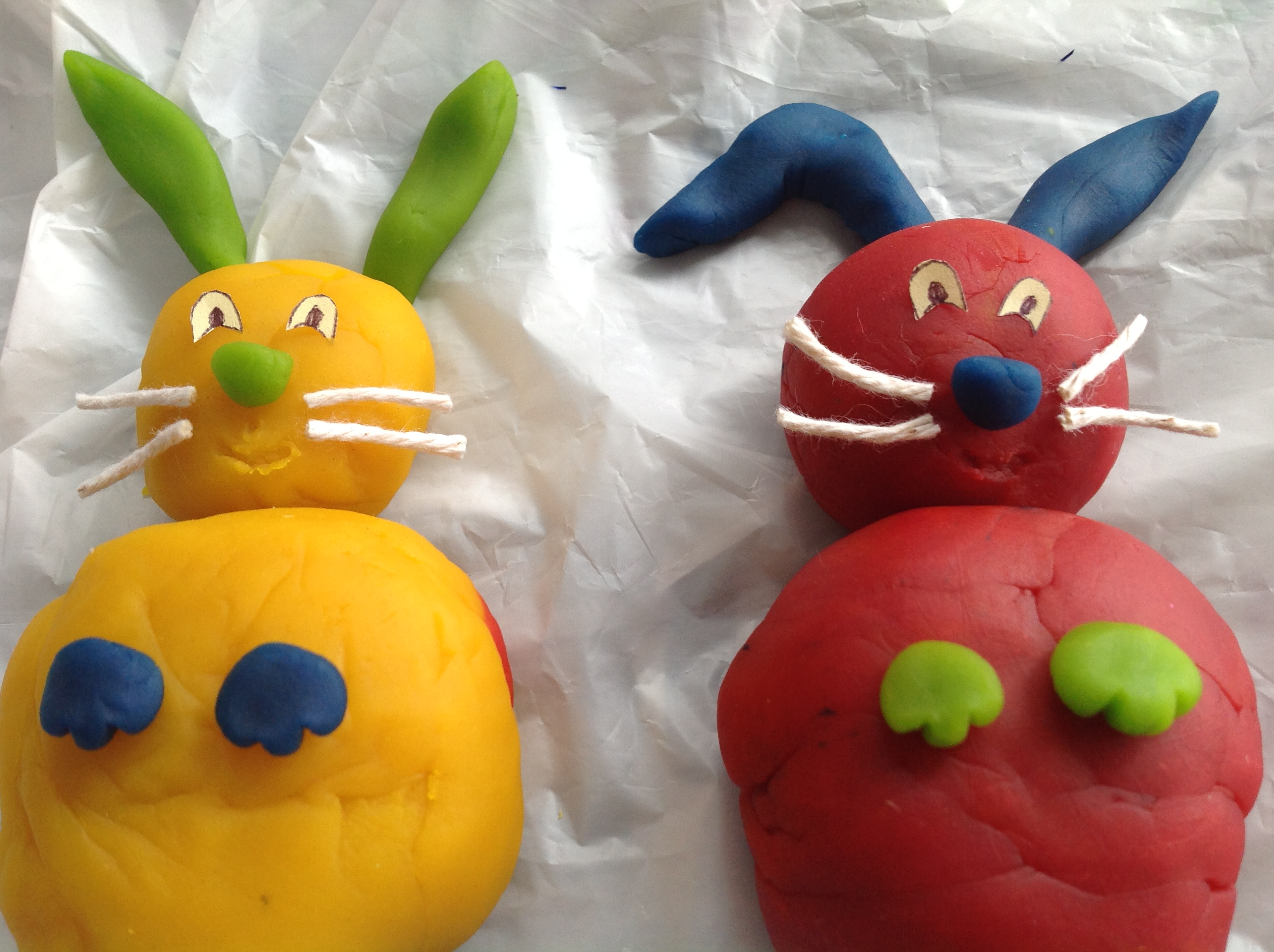 play doh craft ideas easter bunnies play dough crafts for toddlers 5219