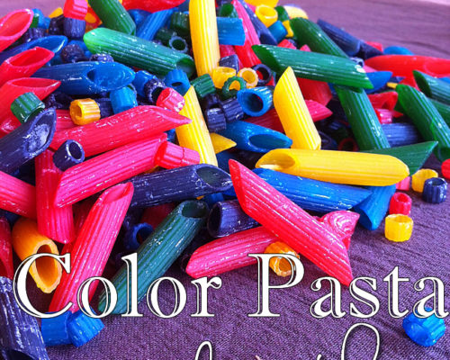 Easy How to Make Colored Pasta for Play