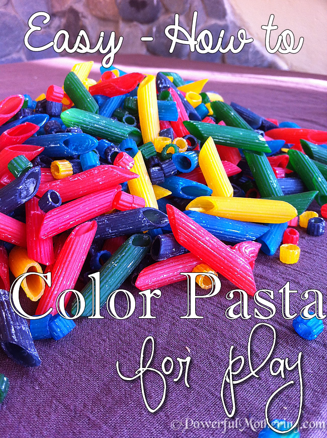 Easy how to color pasta for play