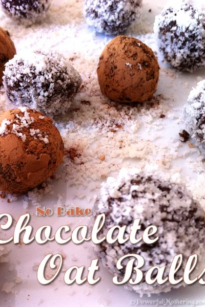 Raw No Bake Chocolate Oat Balls Recipe