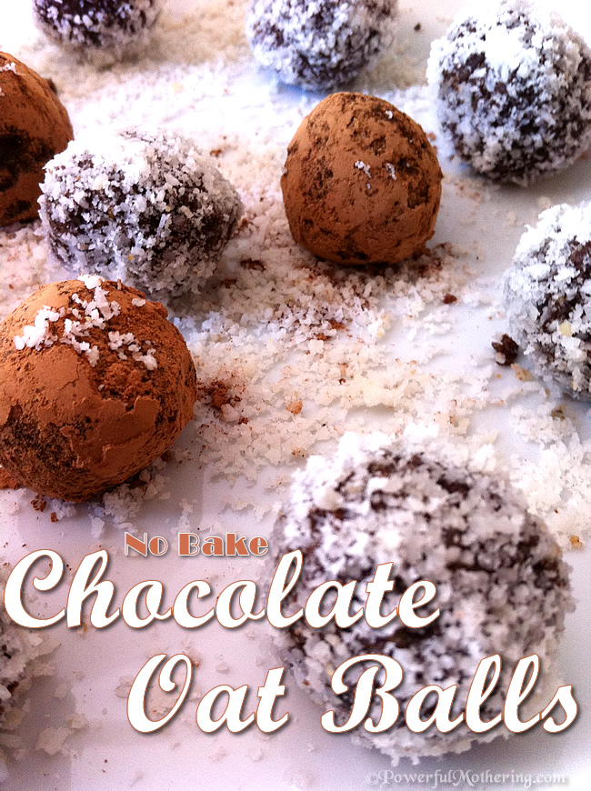 Raw No Bake Chocolate Oatmeal Balls Recipe