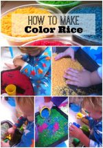 How to Make Color Rice for Sensory Play