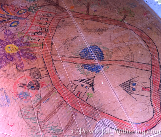 Cardboard Box Drawing with 100 Days of Play