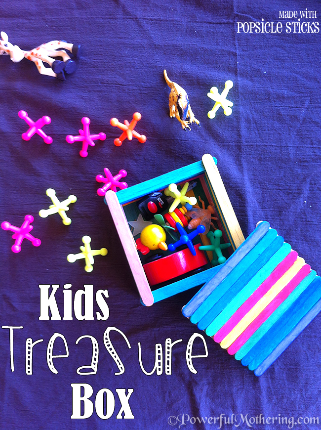 Kids Treasure Box made with Popsicle Sticks