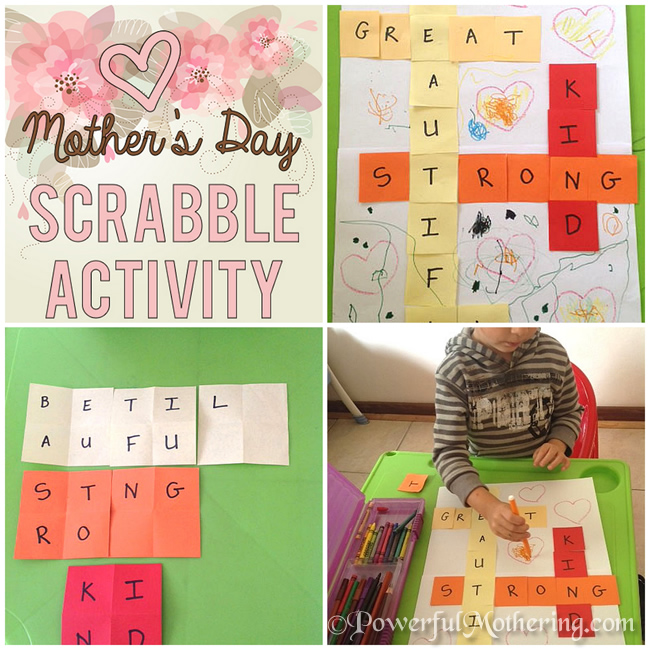 Mothers Day Scrabble Activity