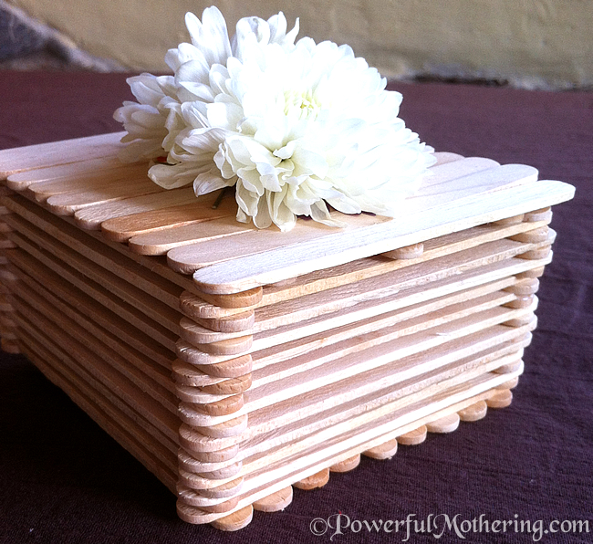Box With Popsicle Sticks