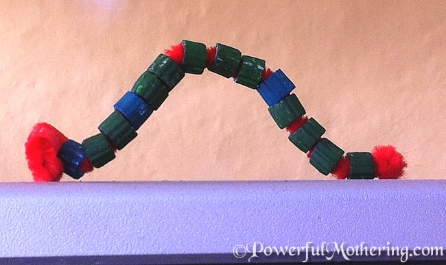 The Very Hungry Pasta Bead Caterpillar