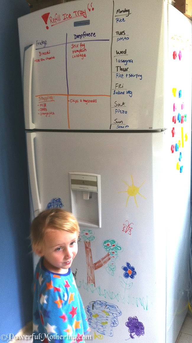 Using your Fridge Space for Lists