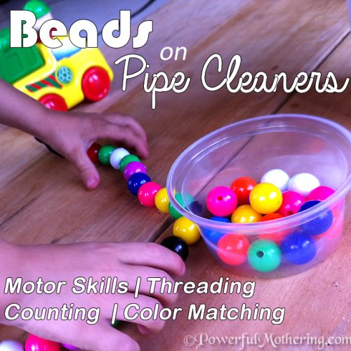Beads on Pipe Cleaners, Pincer, Threading & Jewelry