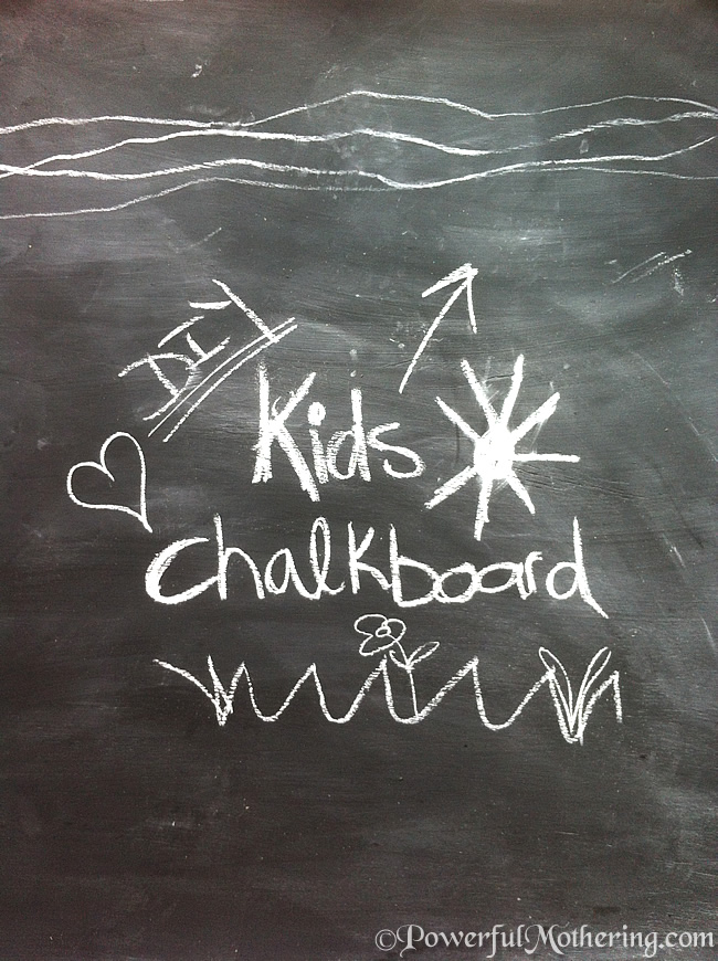 simple diy kids chalk board project