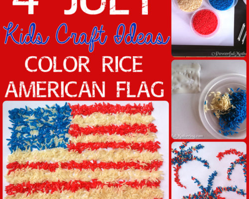 4 July Kids Craft Ideas – Color Rice American Flag Exploring