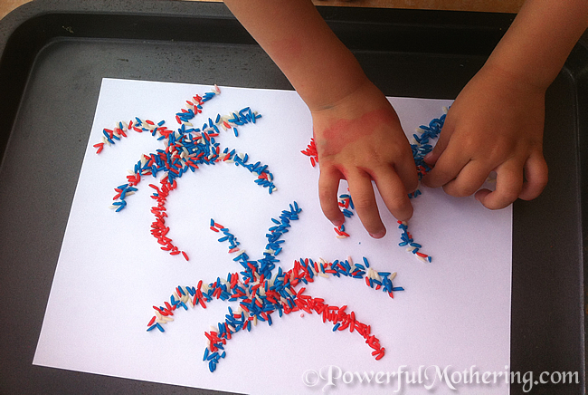 4 july kids craft ideas color rice american flag and for Painting ideas for 4 year olds