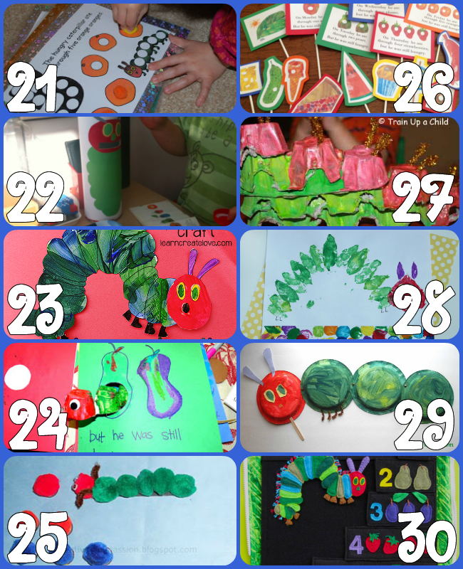 60+ Play Ideas Based On The Very Hungry Caterpillar Book By Eric Carle {Click Image for More}