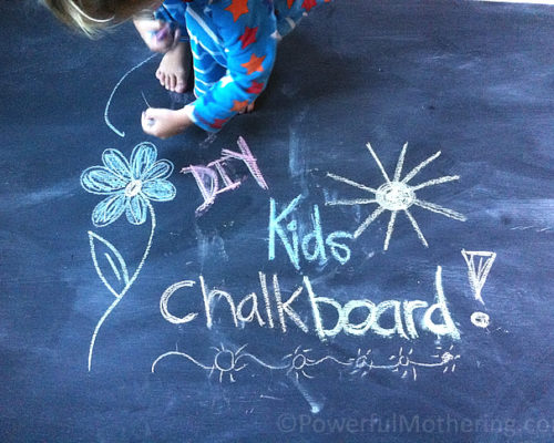 How to Make a DIY Kids Chalk Board