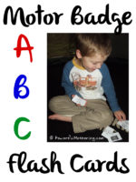 Motor Badge ABC Flash Cards