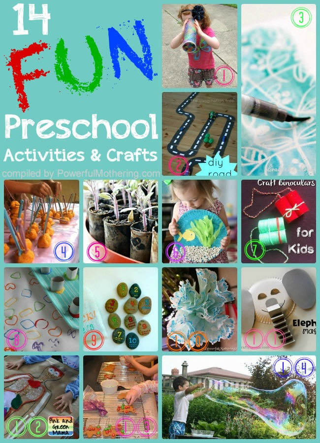 14 Super Fun Activities And Crafts For Preschooler Kids