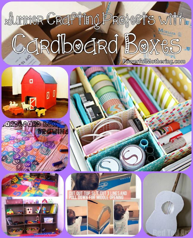 craft box ideas summer crafting projects with cardboard boxes 1437