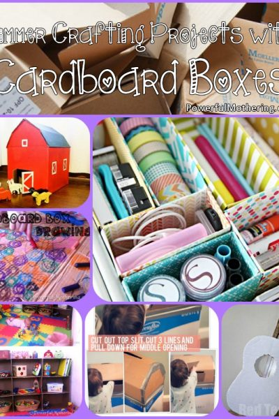Summer Crafting Projects with Cardboard Boxes