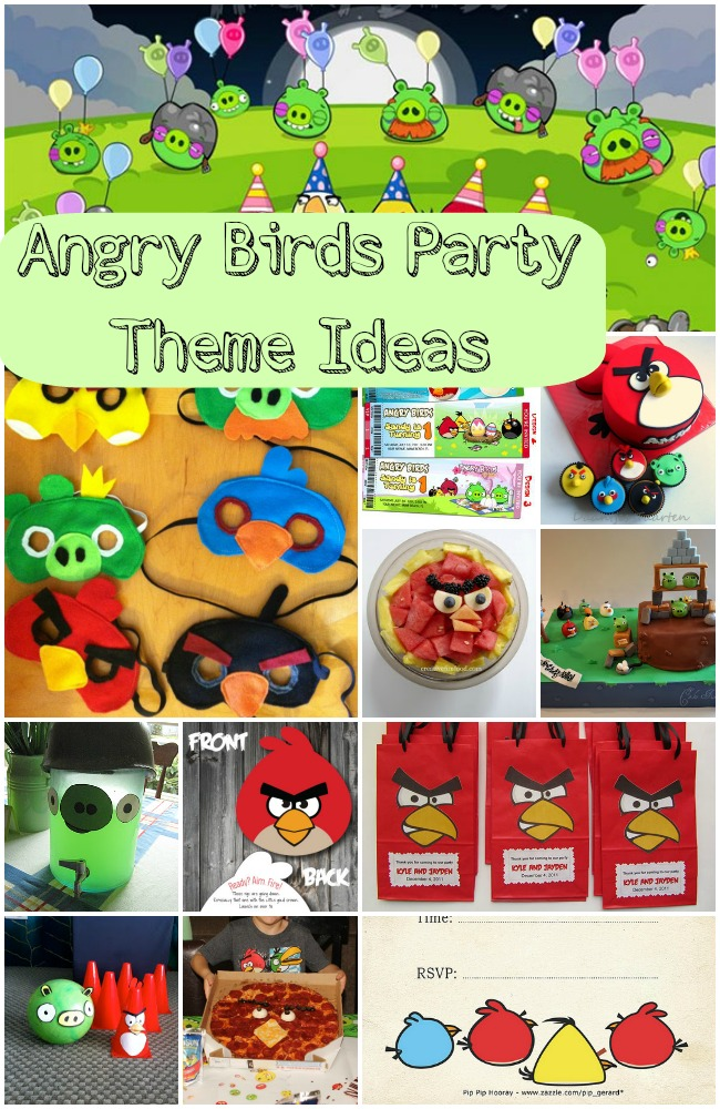 Angry birds party theme ideas for Angry bird birthday decoration ideas