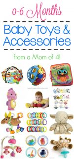 BEST Baby Toys & Accessories for 0-6 Months (from a Mom of 4)