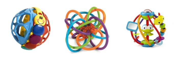 three ball type toys for baby age 0-6