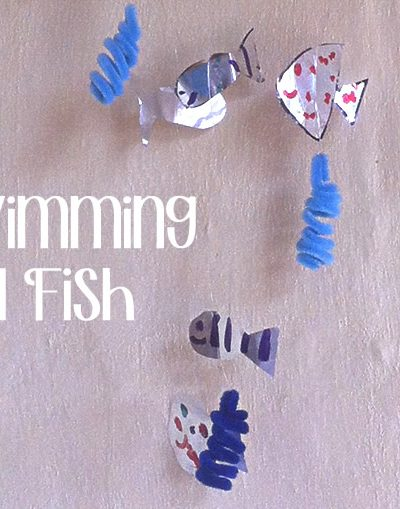 swimming foil fish kids crafts
