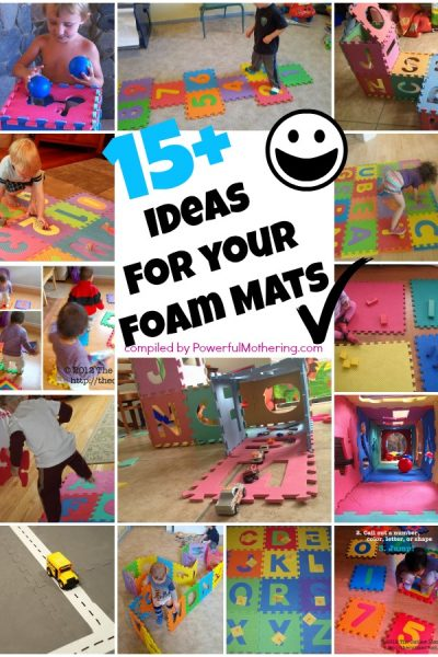 15 Plus Ideas for your Puzzle ABC or Number Foam Mat