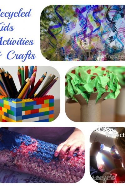 5 Recycled Kids Activities & Crafts