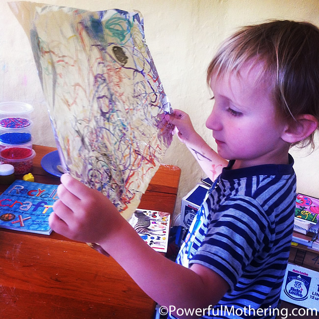 Drawing on Foil a reusable surface kids activities