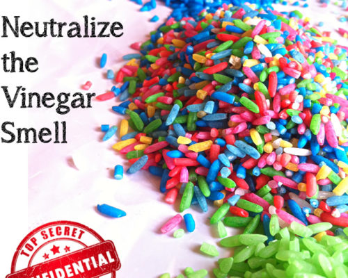How to Neutralize the Vinegar Smell when Coloring Rice or Pasta