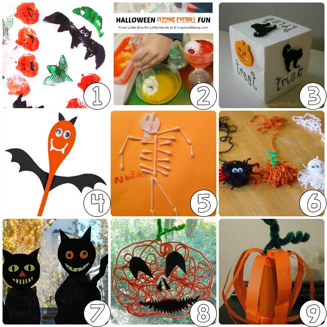 lets get down and trick or treat with halloween crafts for kids