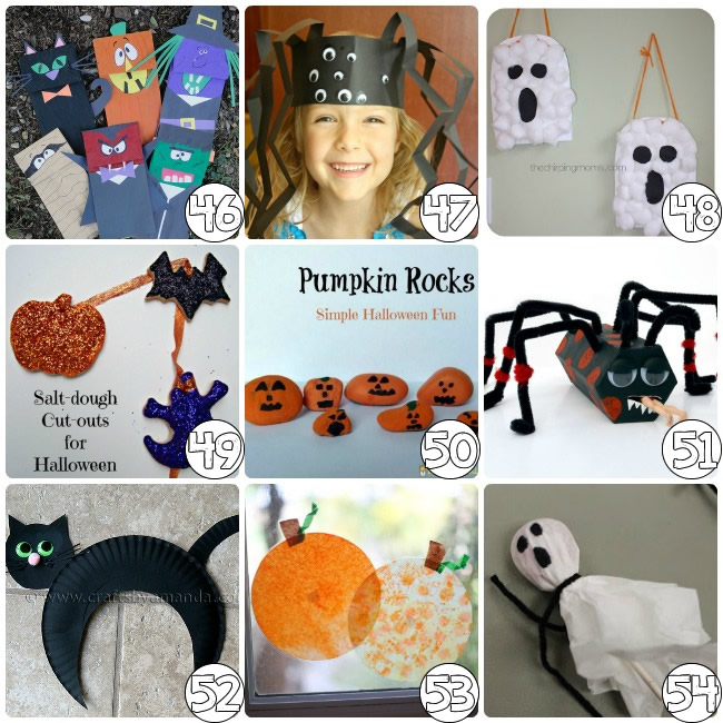 75 halloween crafts for elementary - Preschool Halloween Crafts Ideas