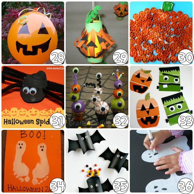 75 simple halloween crafts for preschool - Halloween Art For Kindergarten