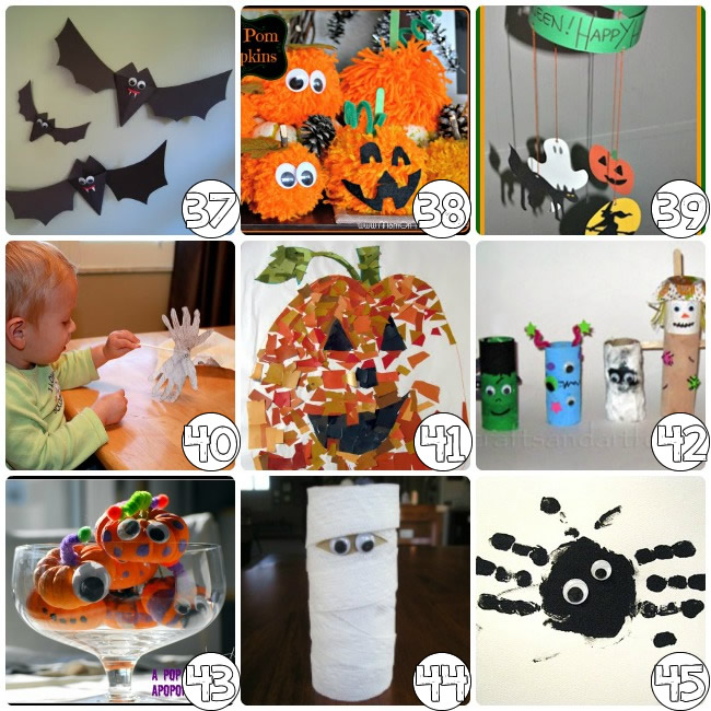 75 free halloween crafts for preschoolers - Diy Halloween Decorations For Kids