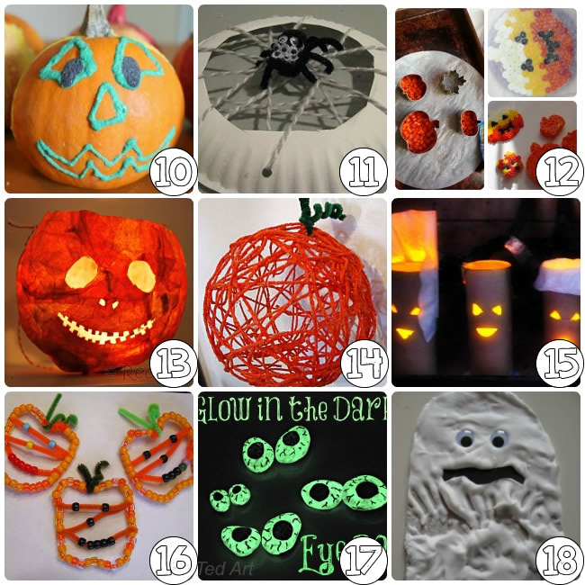 75 halloween craft ideas for kids - Halloween Decorations For Kids To Make