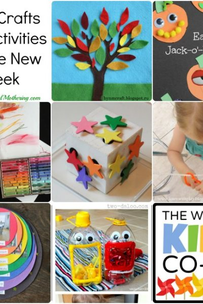 Arts, Crafts and Activities for the new week
