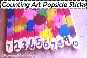 Counting art Popsicle Stick